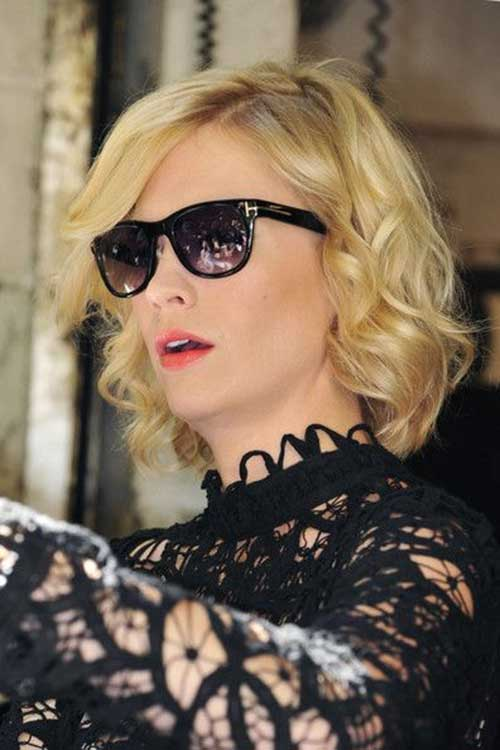 January Jones Short Curly Hairstyles