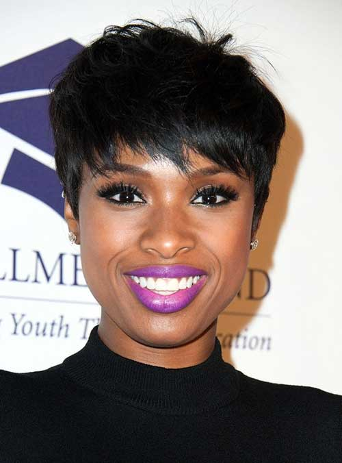 Jennifer Hudson Dark Pixie Hairstyles