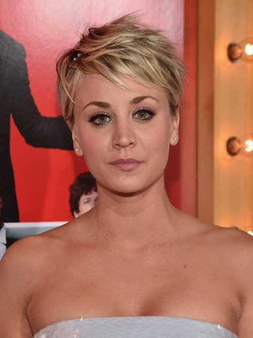 Kaley Cuoco Spiked Pixie Haitcuts