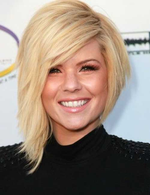 Kimberly Caldwell Asymmetric Hairstyle