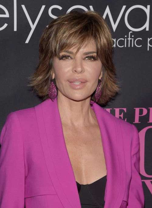 Lisa Rinna Classy Layer Hairstyles