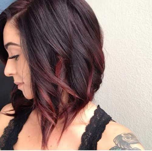 Red Ombre Short Hair Color Idea