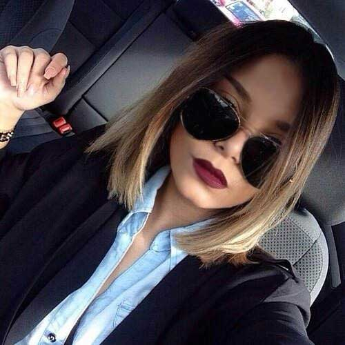 Bob Platinum Ombre Hair Color Idea