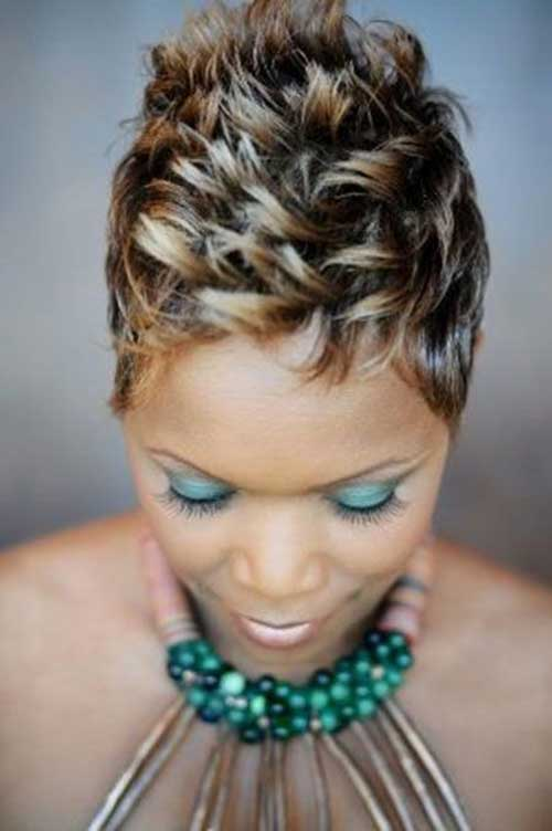 Short Pixie Hairstyles for Black Women with Spiked