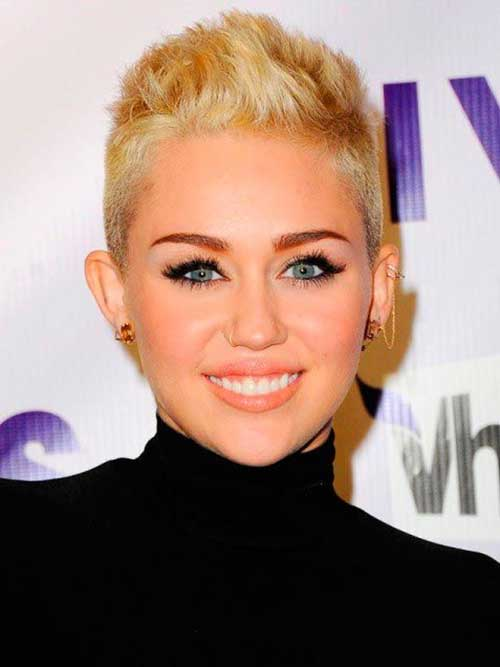 Miley Cyrus Short Pixie Hairstyles