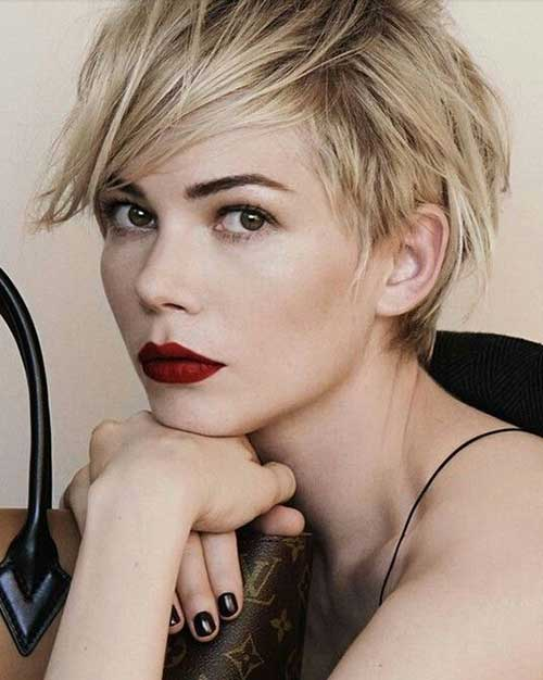 Michelle Williams Short Messy Pixie Haircuts