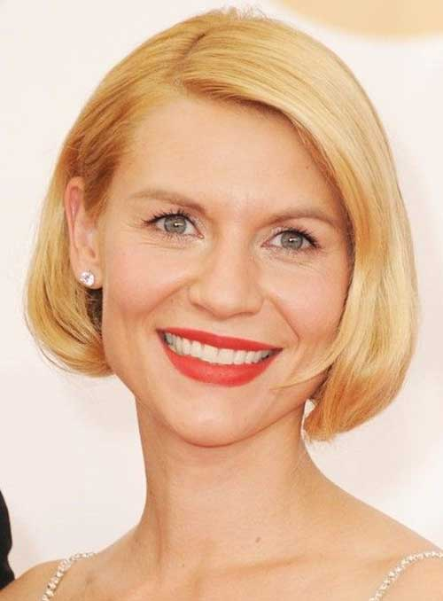 Claire Danes Short Blonde Bob Hairstyles