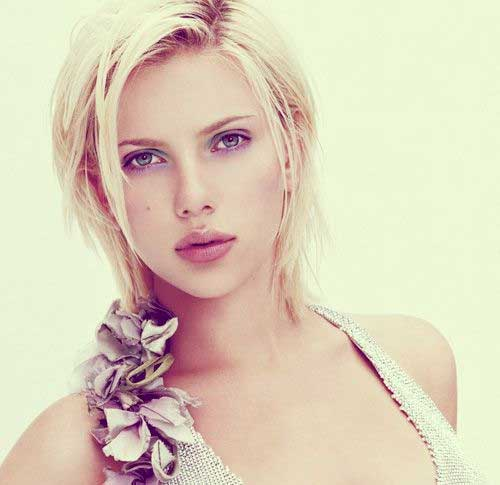 Scarlett Johansson Untamed Short Blonde Hairstyles