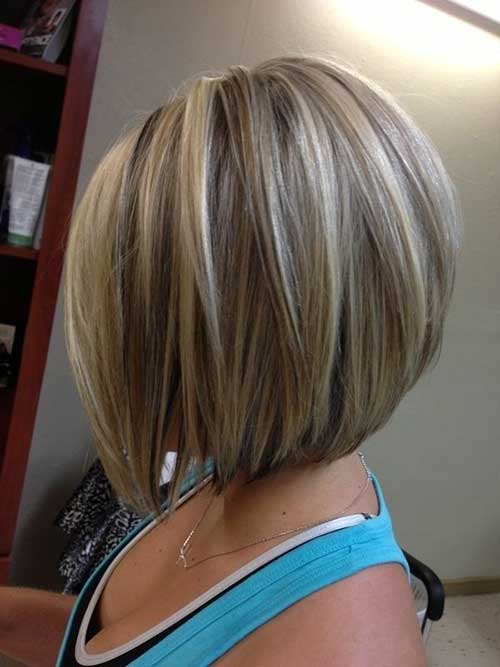 Chic Short Stacked Bob Haircuts