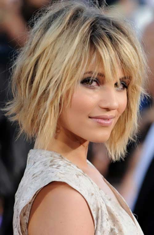 Messy Blonde Layered Bob Hairstyles