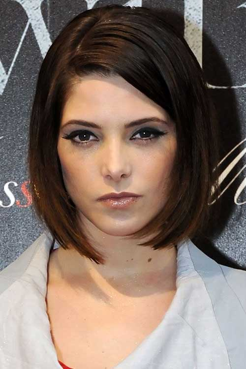 Short Sexy Neat Bob Hairstyles for Round Faces