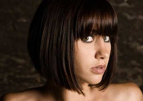 Short Sexy Appealing Bob with Bangs for Round Faces