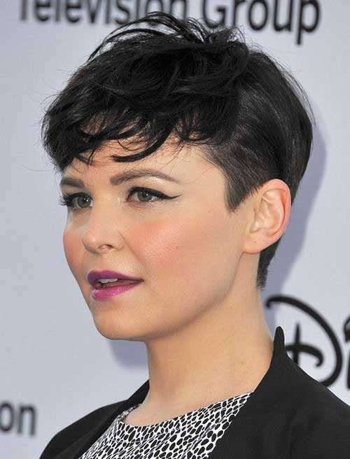 Ginnifer Goodwin Short Different Hair with Thick Bangs