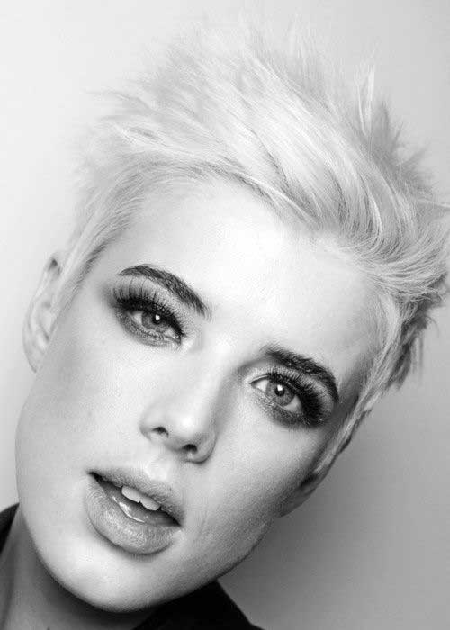 Agyness Deyn Short Rebellious Platinum Hairstyles