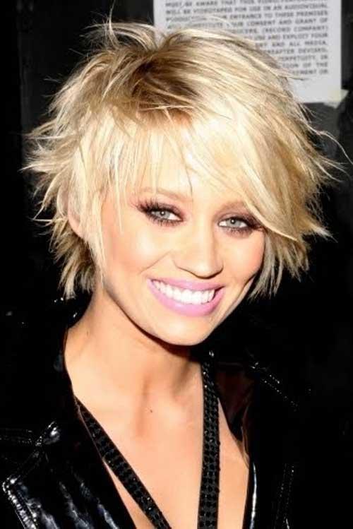 Kimberly Wyatt Short Messy Pointy Haircuts