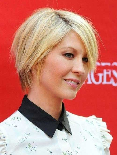 Jenna Elfman Short Straight Casual Blonde Haircuts