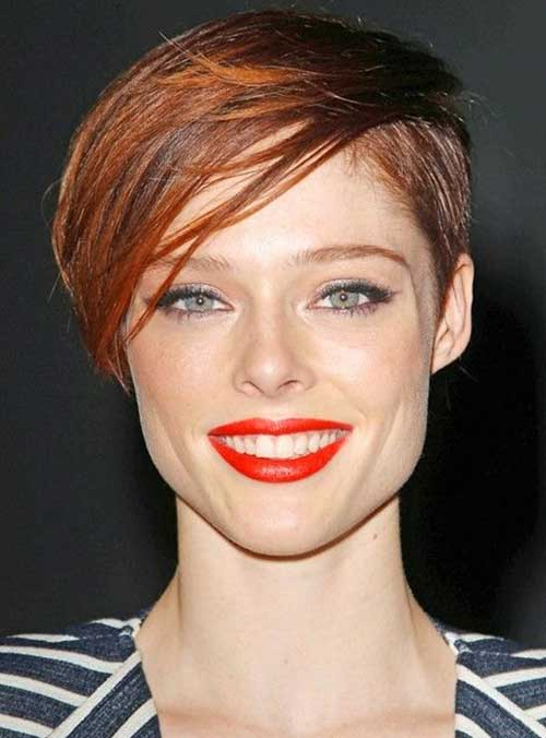 Coco Rocha Short Sexy Red Pixie Styles