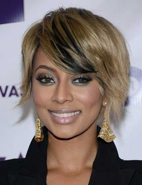 Keri Hilson Short Two Colour Hairstyles
