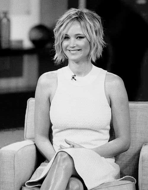 Jennifer Lawrence Short Bob Hairstyles