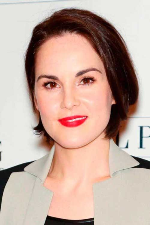Michelle Dockery Short Bob Chocolatty Cherry Hairstyles