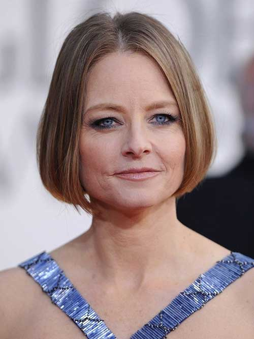 Jodie Foster Blonde Straight Haircuts
