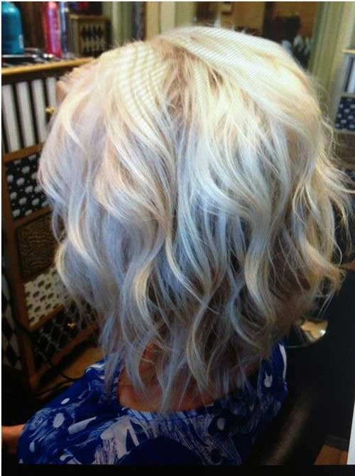 Blonde Short Wavy Bob Hairstyles