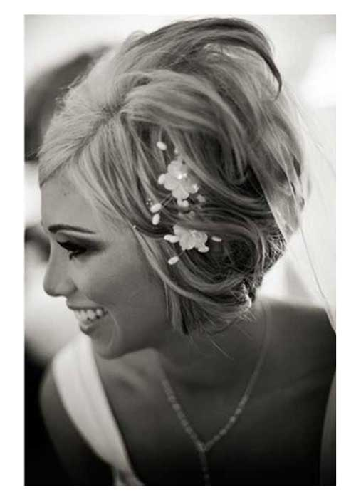 Short Wavy Bob Hairstyles for Brides