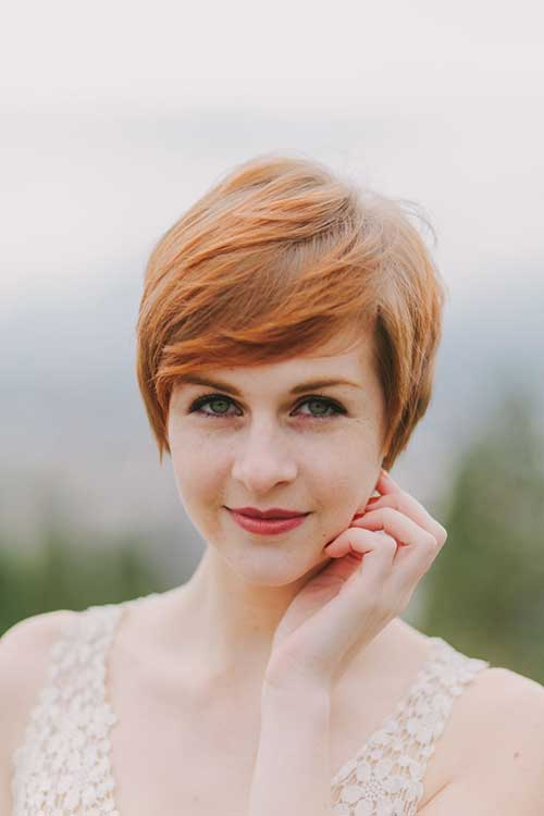 Cute Ginger Straight Pixie
