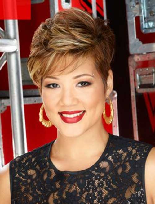 Tessanne Chin Brown Hairstyle