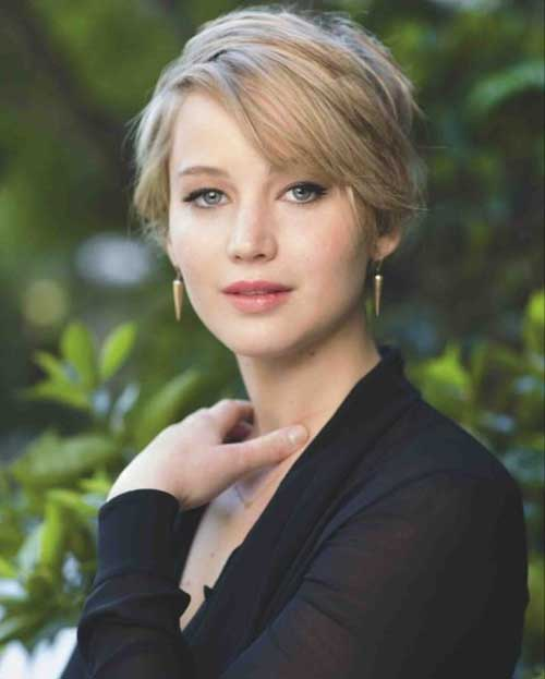 Jennifer Lawrence Trendy Short Haircuts