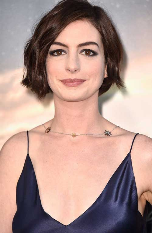 Anne Hathaway Trendy Very Short Hairstyles 2015