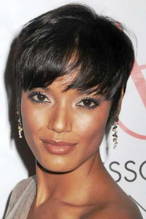Thin Pixie Short Hairstyles for Black Women