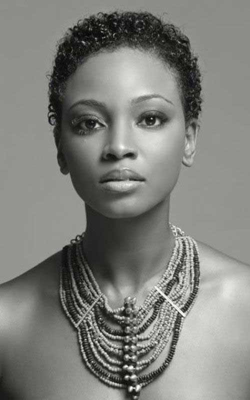 Best Black Women with Curly Short Hairstyles