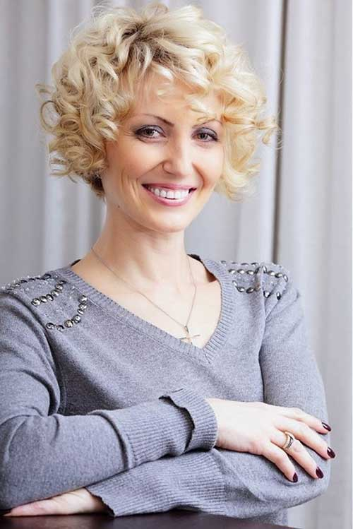 Blonde Curly Bob Hairstyles for Short Hair