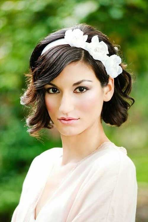 Bridal Hairstyles for Short Curly Hair