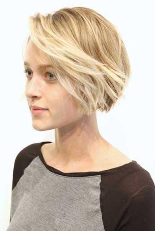 Short Blonde Highlighted Hair