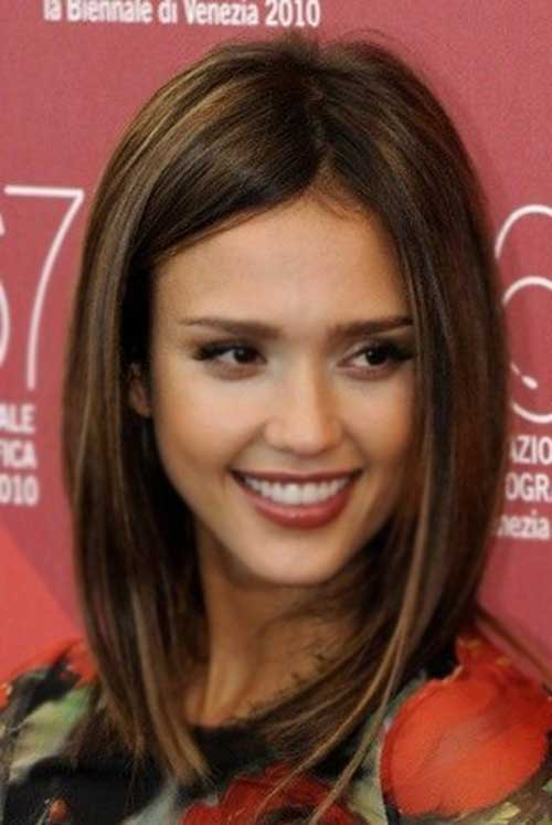 Jessica Alba Celebrities with Short Brown Hair 2015