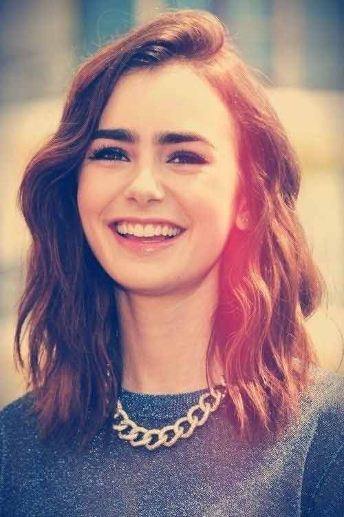 Lily Collins Celebrities with Short Hair