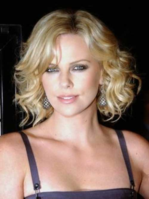 Charlize Theron Short Curly Hairstyles