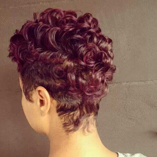 Curly Pixie Back View for Women