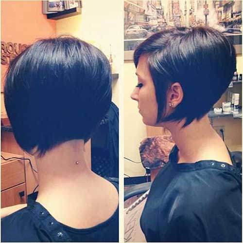 Cute Angled Bob Hairstyles 2015