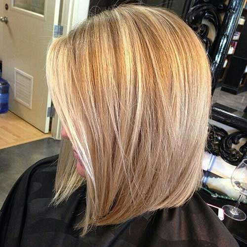 Nice Cute Blonde Highlighted Hairstyle for Women