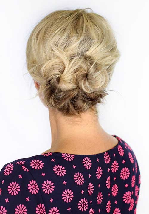 Cutest Easy Updo Style for Short Hairdo