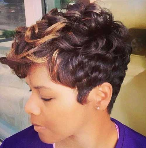 Cute Pixie Short Haircuts for Black Females