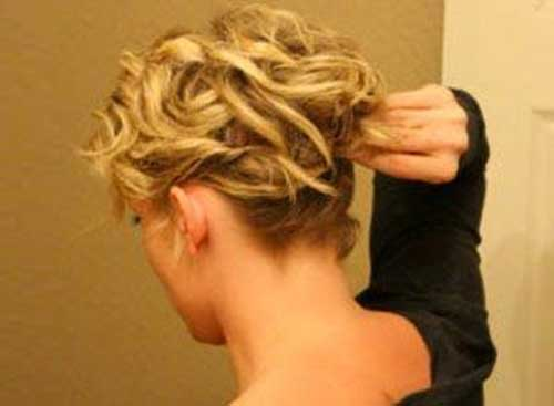 Easy Short Blonde Hair Updo