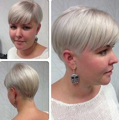 Fat Women Hairstyles Designs for Short Hair