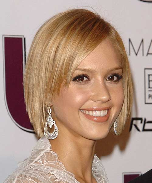 Fine Straight Short Hairstyles with Light Brown Highlights