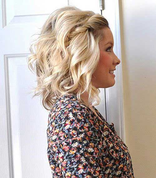 Front Hairstyle with Soft Curls for Girls