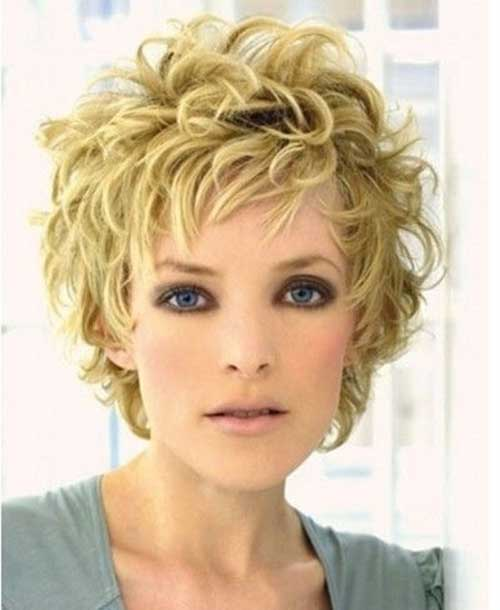 Funky Curly Short Hairstyles for Women