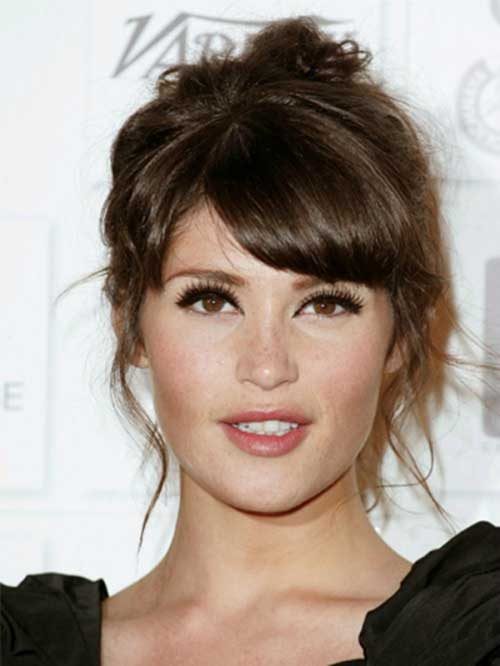 Gemma Arterton Celeb Full Side Bangs